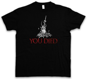 Dark Souls 3 T-Shirt You Died