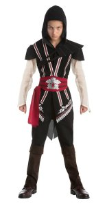 Ezio Auditore Kostuem aus Assassins Creed 2 fuer Kinder schwarz