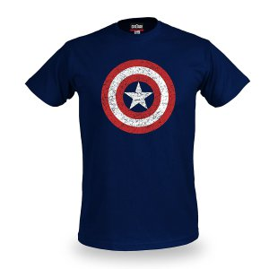 Captain America Civil War T-Shirt Distressed Shield