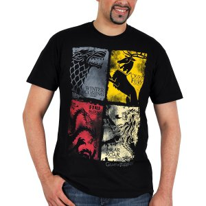 Game of Thrones T-Shirt Lannister Stark Targaryen Baratheon-wappen