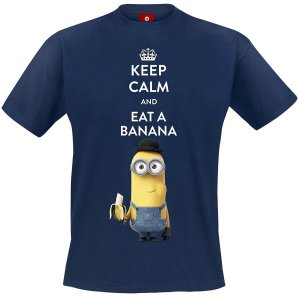 Minions T-Shirt Keep calm and eat a Banana